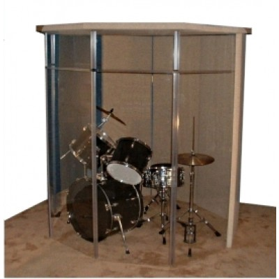 "Drum Shield - DrumPerfect ""Silencer"" Performance Booth Practice 6"
